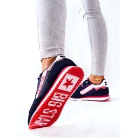 Læder sportssko Big Star II274270 Marineblå hvid rød marine blå 4
