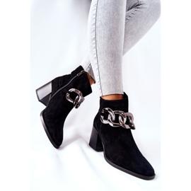 Læderstøvler med kæde Laura Messi Sort 2345 3