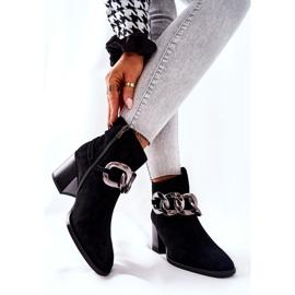 Læderstøvler med kæde Laura Messi Sort 2345 2