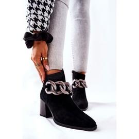 Læderstøvler med kæde Laura Messi Sort 2345 1