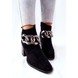 Læderstøvler med kæde Laura Messi Sort 2345 4