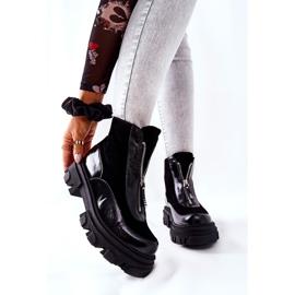 Læderisolerede støvler Laura Messi Black 2371 sort 1