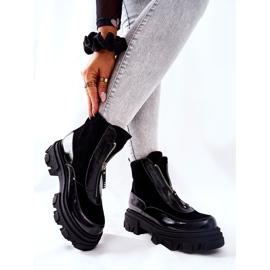 Læderisolerede støvler Laura Messi Black 2371 sort 2