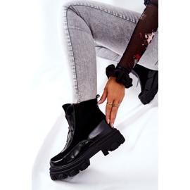 Læderisolerede støvler Laura Messi Black 2371 sort 3
