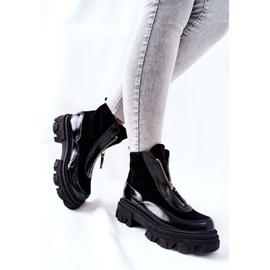 Læderisolerede støvler Laura Messi Black 2371 sort 4
