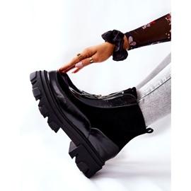 Læderisolerede støvler Laura Messi Black 2371 sort 5