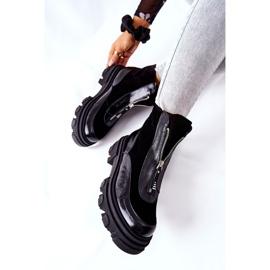 Læderisolerede støvler Laura Messi Black 2371 sort 6